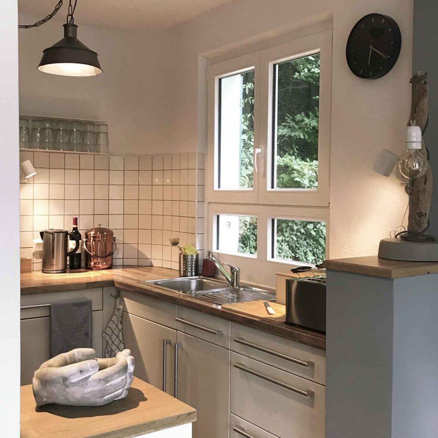 Die offene Küche im Erdgeschoss.