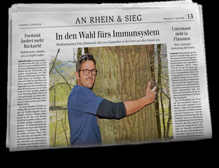 Ferienhauseigentümer Fritz in einer Ausgabe der Rhein-Sieg Zeitung.